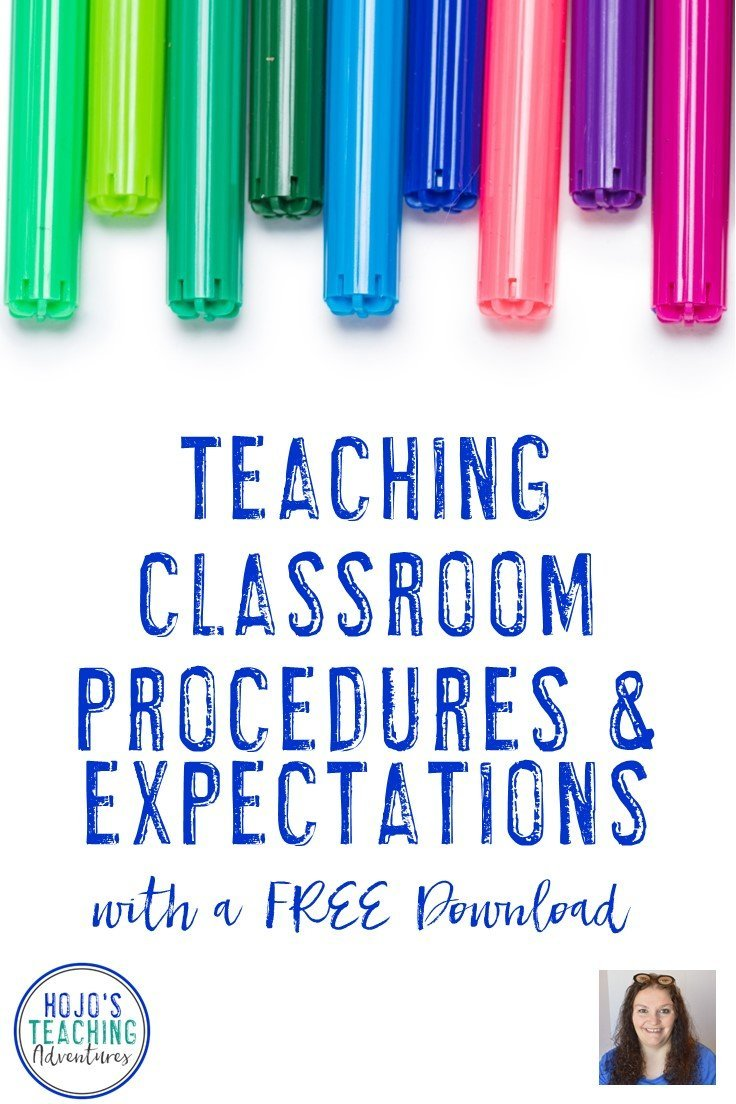 Teaching classroom procedures and expectations does NOT need to be challenging. Click through to get some great ideas, and then download the FREE printable to help you cover every procedure your students need to know. This is great for back to school OR any time where you need to get classroom management back under control. This is perfect for the preschool, Kindergarten, 1st, 2nd, 3rd, 4th, 5th, or 6th grade classroom teacher. {preK, first, second, third, fourth, fifth, sixth graders, freebie}