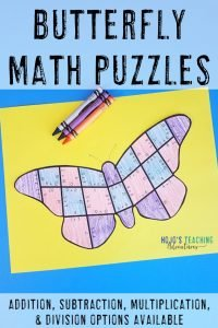 Click here to go to my Butterfly Puzzles on TpT!