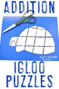 Great addition igloo activities for 1st, 2nd, or 3rd grade students!