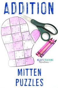 Addition Mitten Puzzles