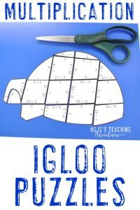 FUN igloo activities covering multiplication for your 3rd, 4th, or 5th grade students!