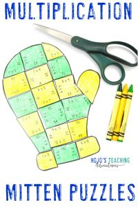 Multiplication Mitten Puzzles