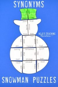 Synonyms Snowman Puzzle
