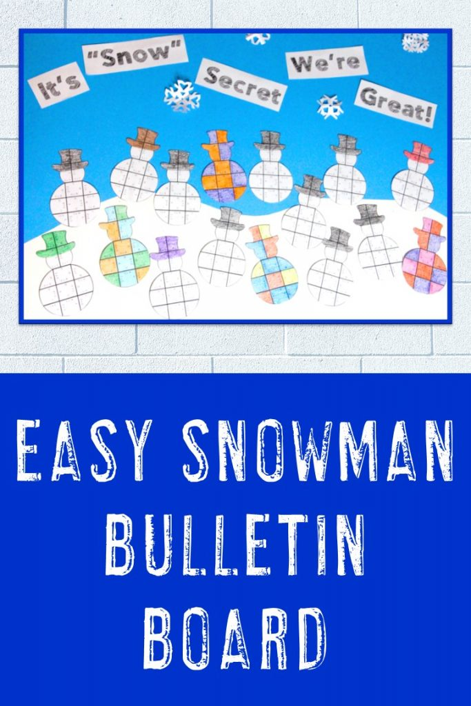 Easy Snowman Bulletin Board