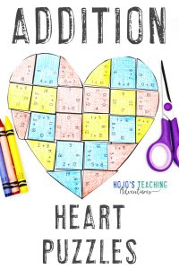 Addition Heart Valentine's Day Activities
