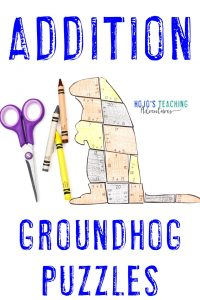 Groundhogs Day Addition Puzzles - Click to buy!
