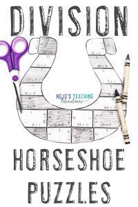Division Horseshoe Puzzles