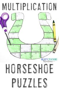 Multiplication Horseshoe Puzzles