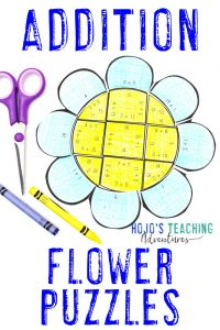 Click here to buy ADDITION flower puzzles!