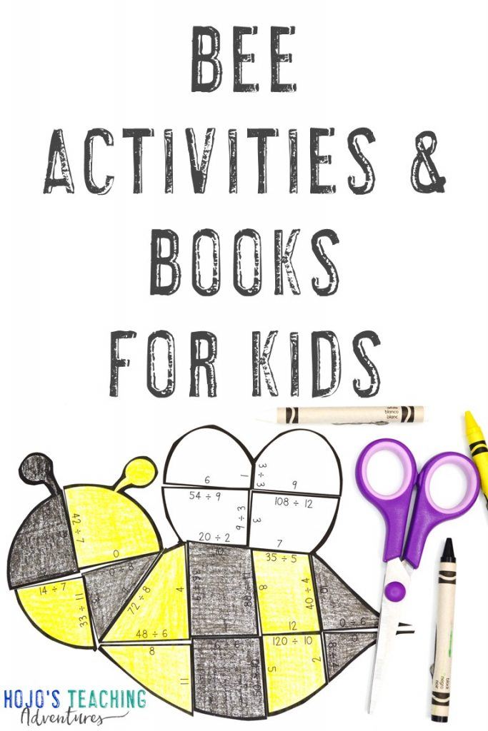 Bee Activities & Books for Kids with a bee puzzle pictured