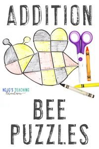 Click to buy bee addition puzzles!