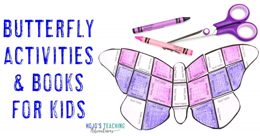 Butterfly Activities & Books for Kids showing the editable butterfly puzzle