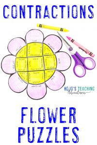 Click here to buy CONTRACTION flower puzzles!
