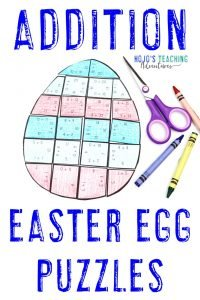 Click here to buy a set of Addition Easter Egg Puzzles!