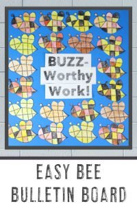 """BUZZ-Worthy Work!"" - Easy Bee Bulletin Board"