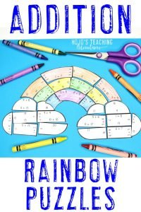 Click to buy ADDITION rainbow math activities!