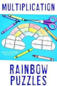 Click to buy multiplication rainbow puzzles!