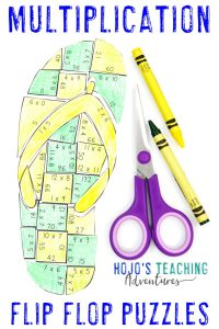 Click to buy your own MULTIPLICATION flip flop math activity!