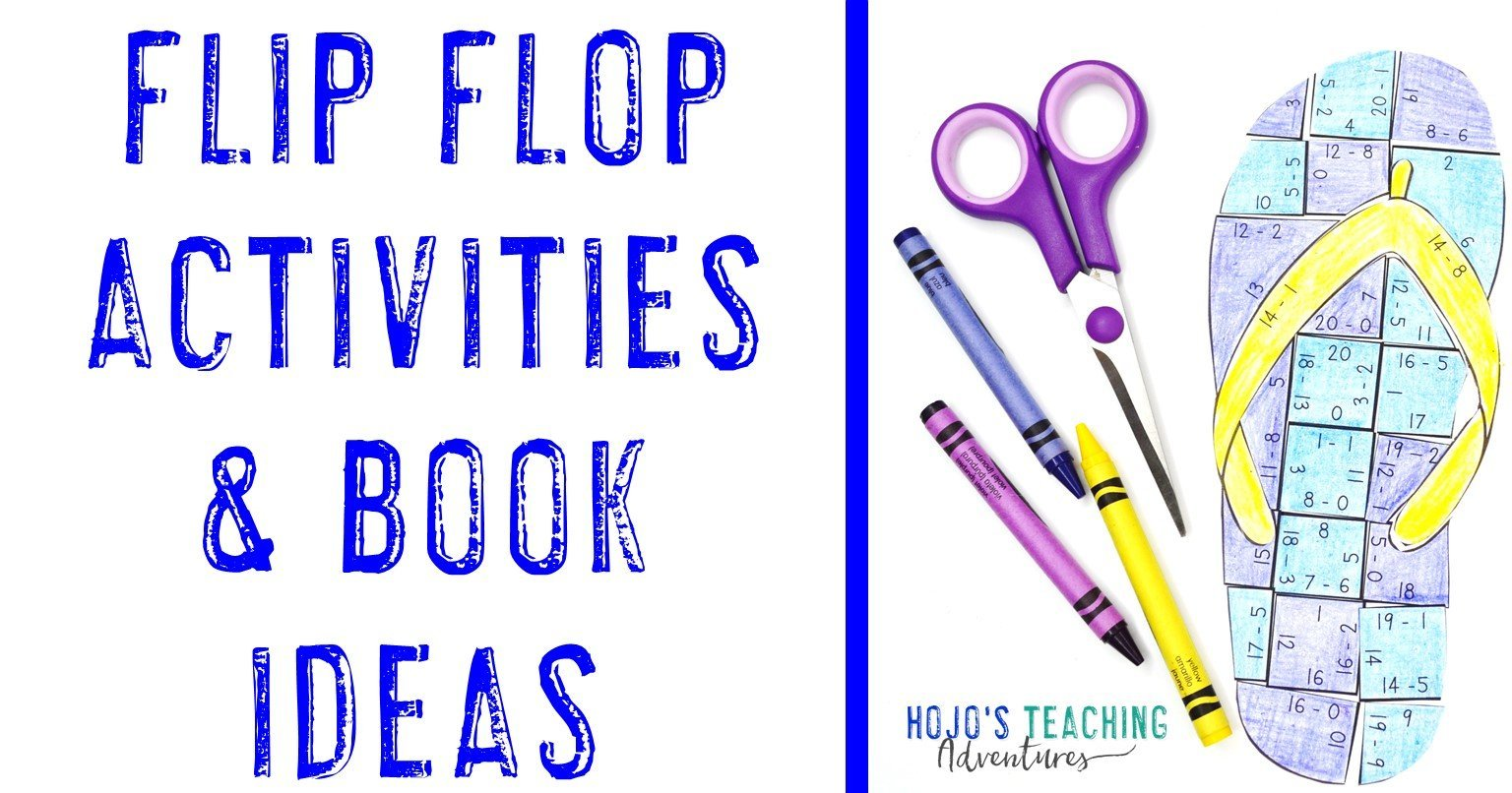 Flip Flop Activities & Book Ideas for Elementary Kids