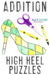 Click here to grab your ADDITION high heel math games!