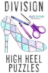 Click here now to grab your DIVISION high heel math puzzles!