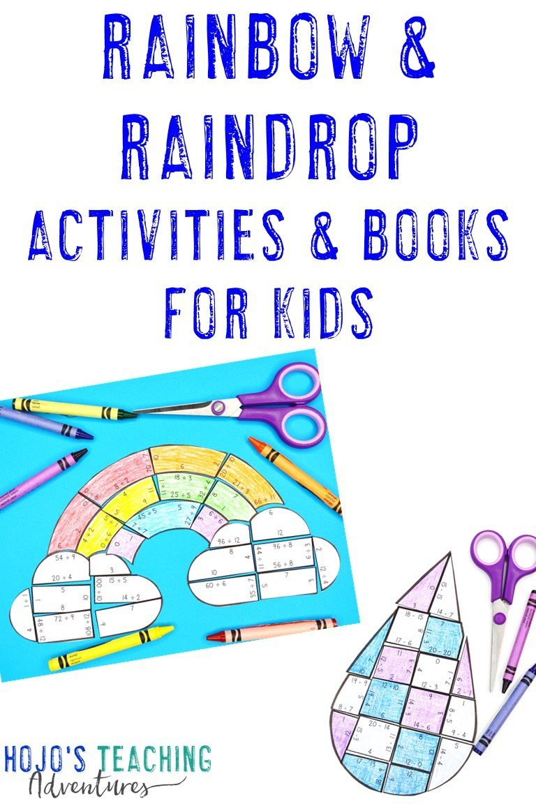 Rainbow Activities & Raindrop Fun for Kids with puzzles