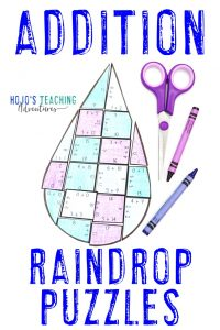 Click here to grab your own ADDITION raindrop math games!