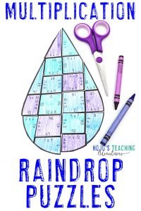 Click to buy your own MULTIPLICATION Raindrop Puzzle.