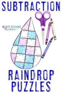 Click here to buy SUBTRACTION raindrop puzzles!