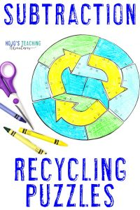 SUBTRACTION Recyling Puzzles