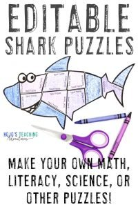 Click to buy your own EDITABLE cartoon shark puzzle!