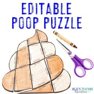 Click to buy your own EDITABLE poop puzzle!