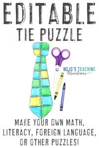 Click to buy your own EDITABLE tie puzzle!