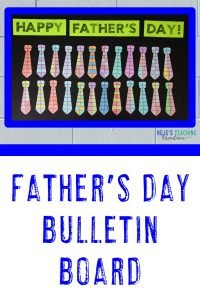 """Father's Day Bulletin Board Idea with Tie Puzzles saying """"Happy Father's Day!"""""""