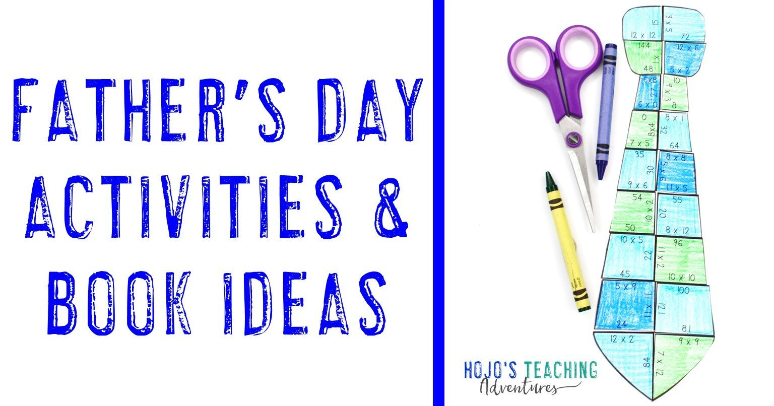 father's day activities & book ideas with a picture of a tie puzzle