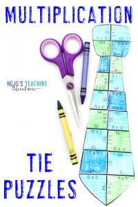 Multiplication Tie Puzzles
