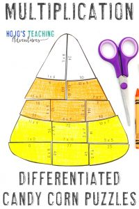 Click here to get your own MULTIPLICATION Candy Corn Activities!