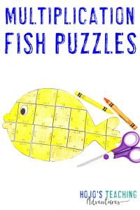 Click to get your own multiplication fish puzzles!