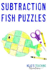 Click to get your FREE subtraction fish puzzles!