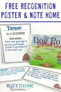 Click to get your FREE dog poop poster and note home!