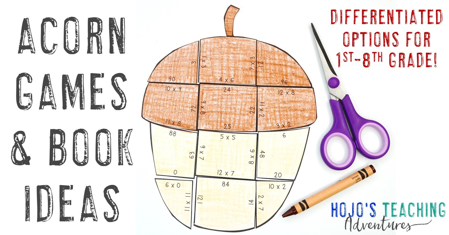 Acorn Games & Books for Kids - with a multiplication puzzle