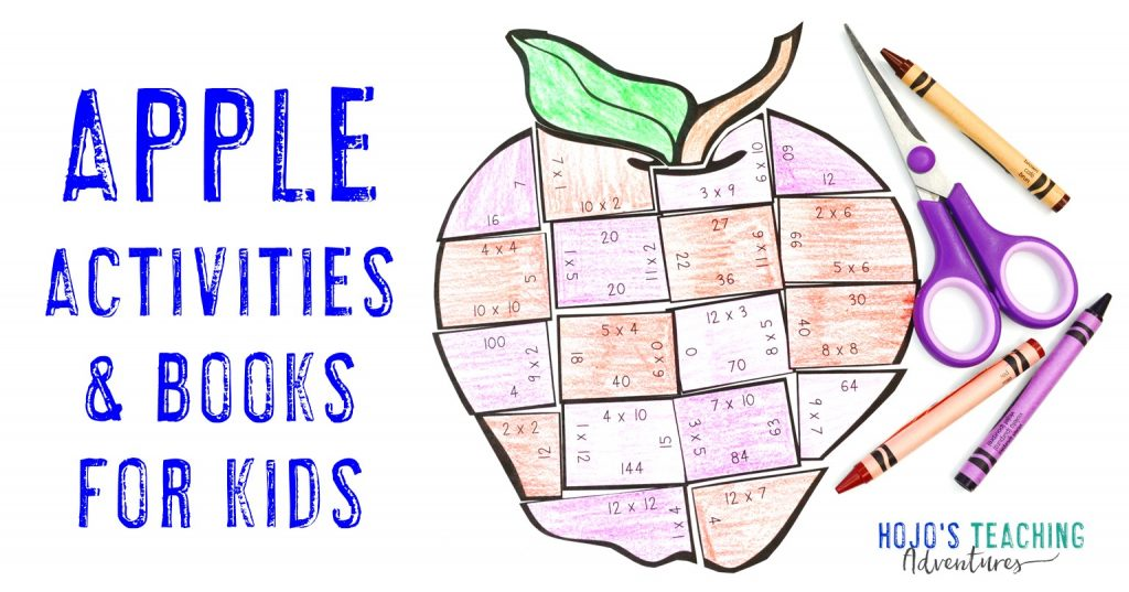 Apples Activities & Books for Kids with multiplication apple math game