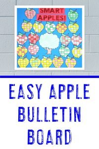 """""""Smart Apples"""" - easy apple bulletin board idea"""