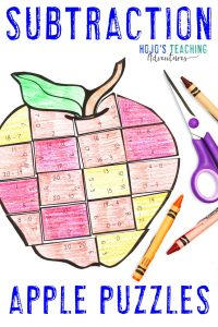 Grab your own SUBTRACTION Apple Activities today!