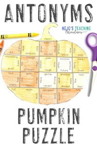 Click to get your own ANTONYM Pumpkin Puzzle!