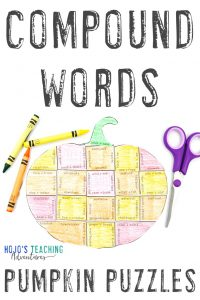 Get your COMPOUND WORDS pumpkin puzzles here!