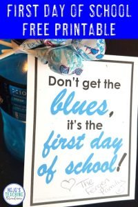 Click to get your FREE first day of school printable download gift!
