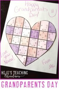 Grandparents Day Puzzle Card