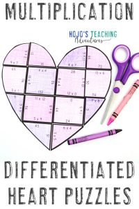 Get your own MULTIPLICATION heart puzzles here now!