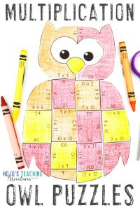Click to get your own MULTIPLICATION owl math games!